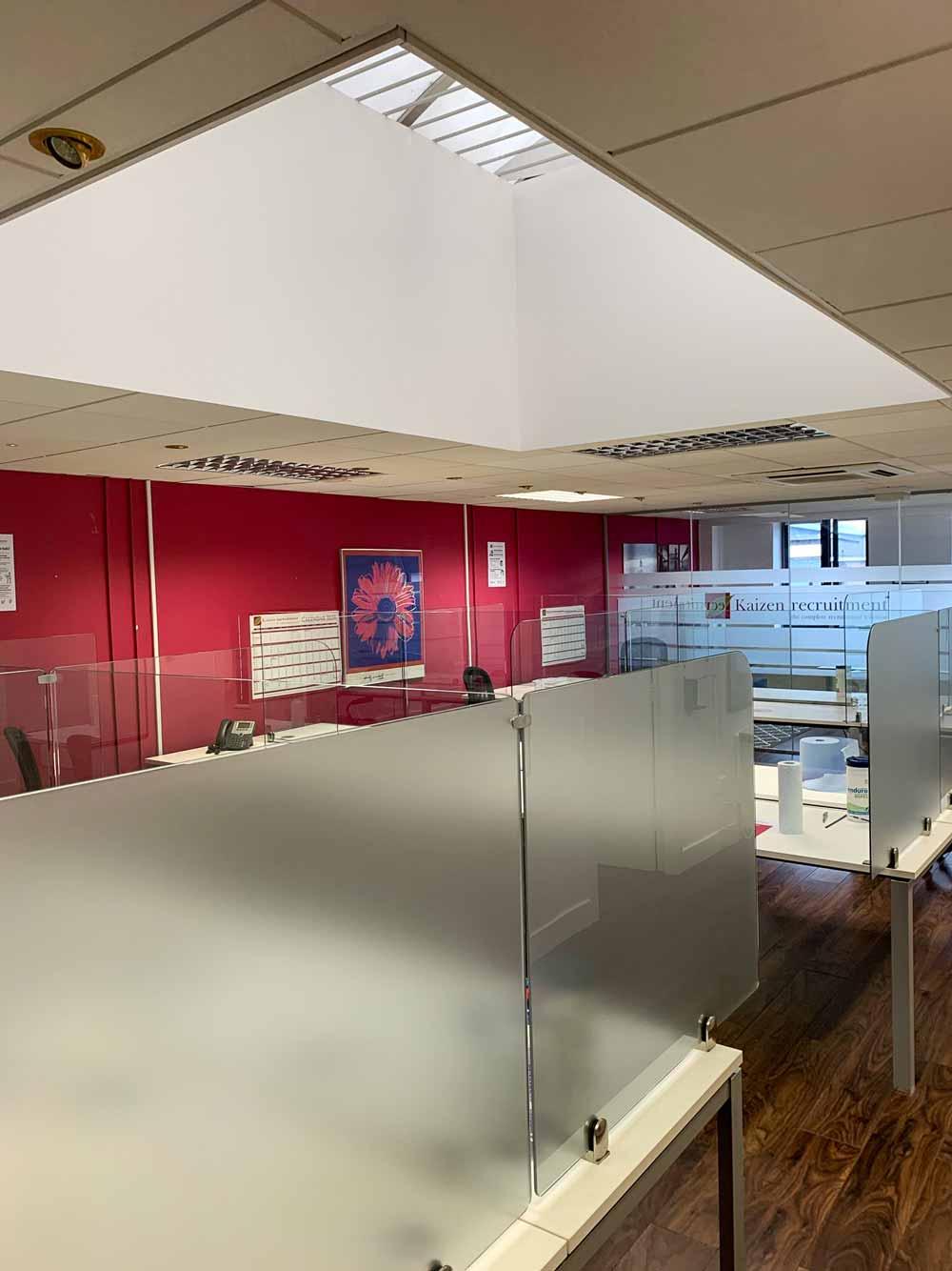 Glass Desk Divider in Office Ireland