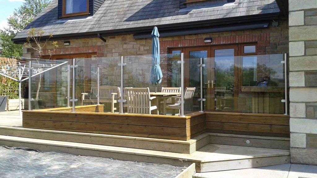 Glass patio system