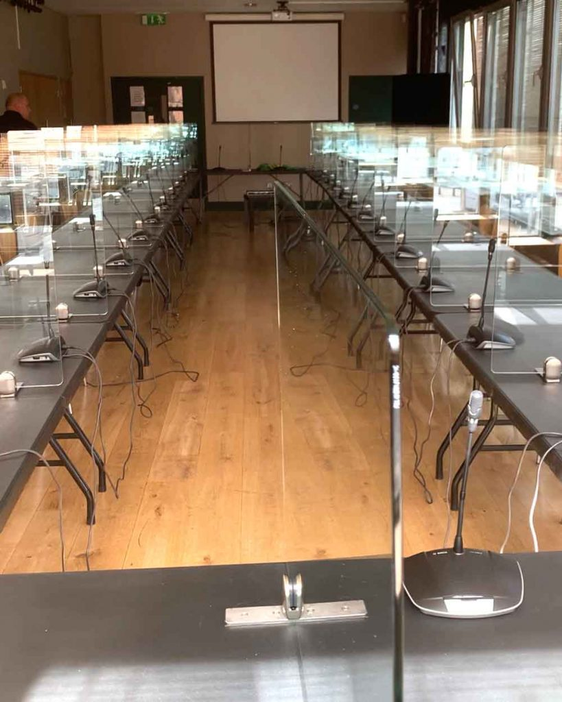 social distancing screens for classroom after
